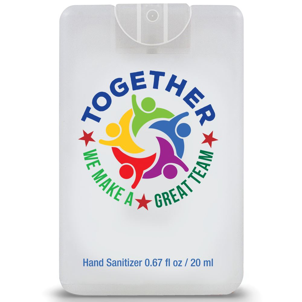 Together We Make A Great Team Credit Card Style Hand Sanitizer Spray