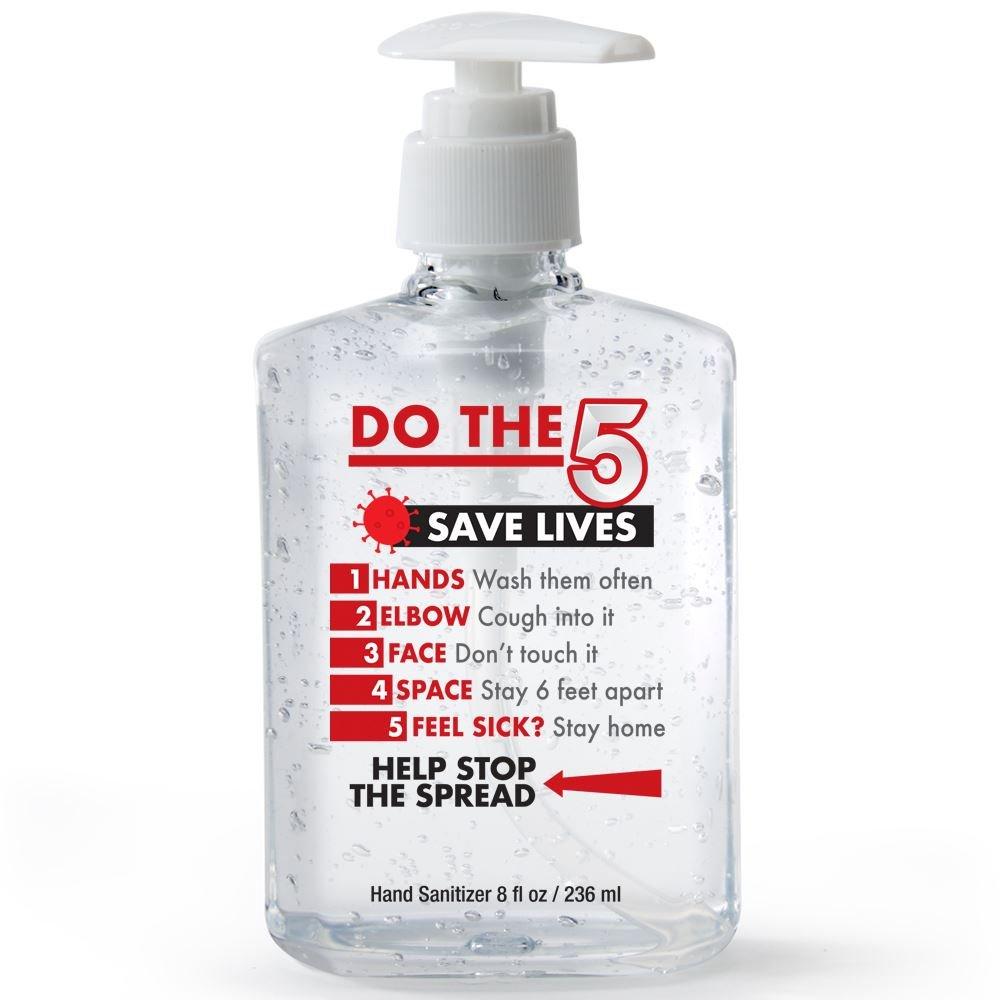 Do The 5, Saves Lives! 8-Oz. Sanitizer Gel Pump