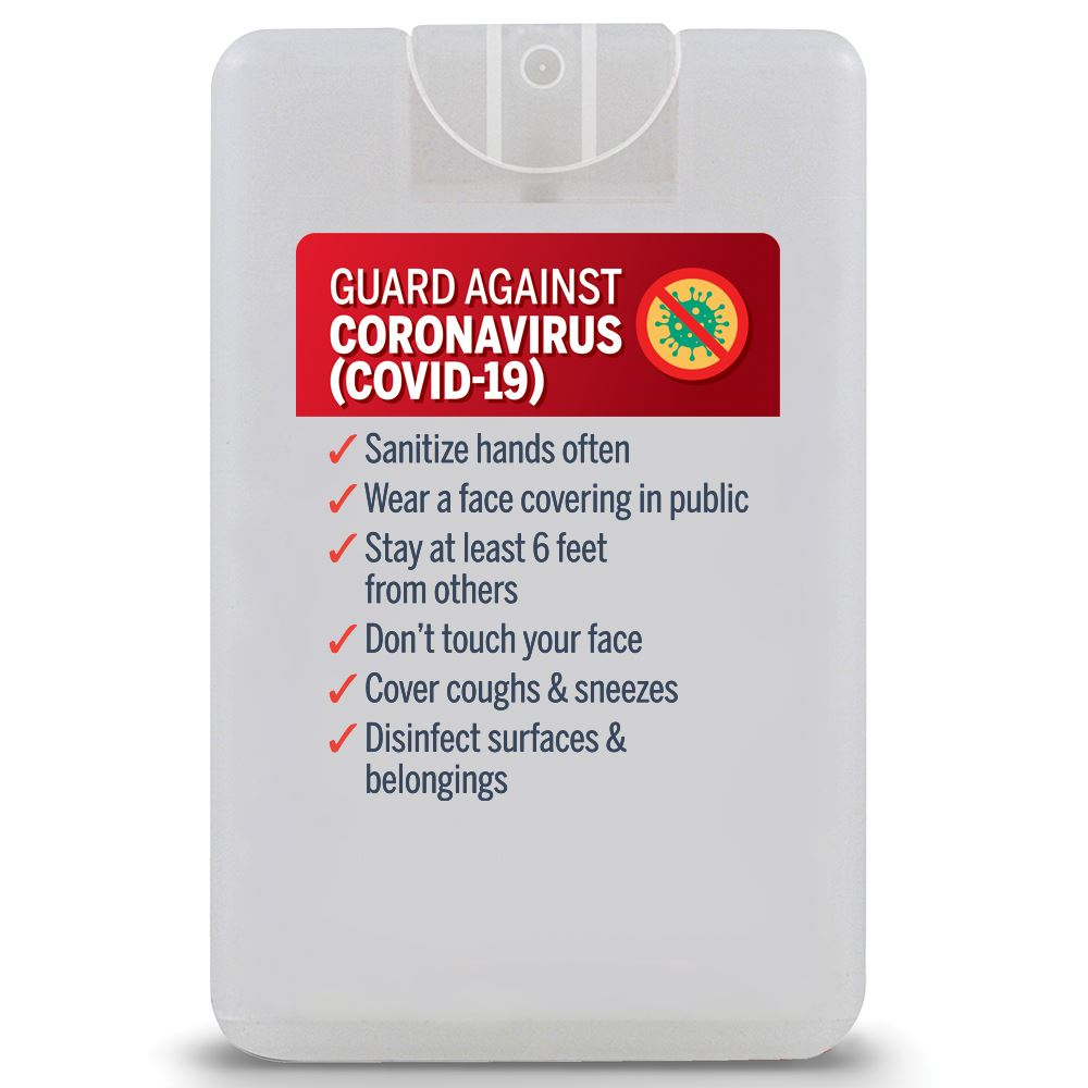 Guard Against Coronavirus (Covid-19) Credit Card Style Antibacterial Hand Sanitizer Spray