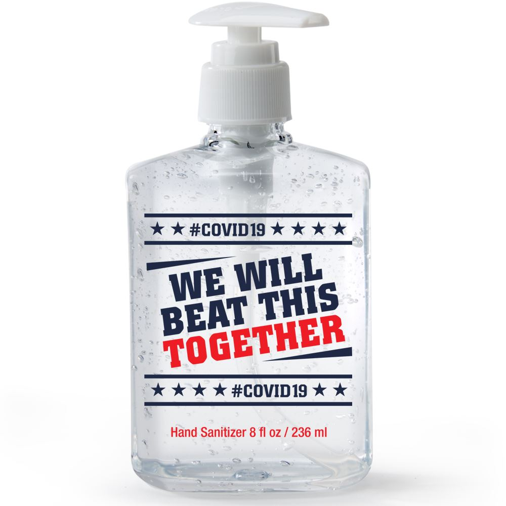 We Will Beat This Together, COVID-19 8-Oz. Sanitizer Gel Pump