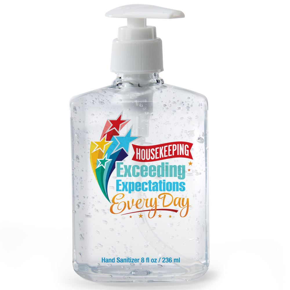 Housekeeping...Exceeding Expectations Every Day 8-oz. Sanitizer Gel Pump