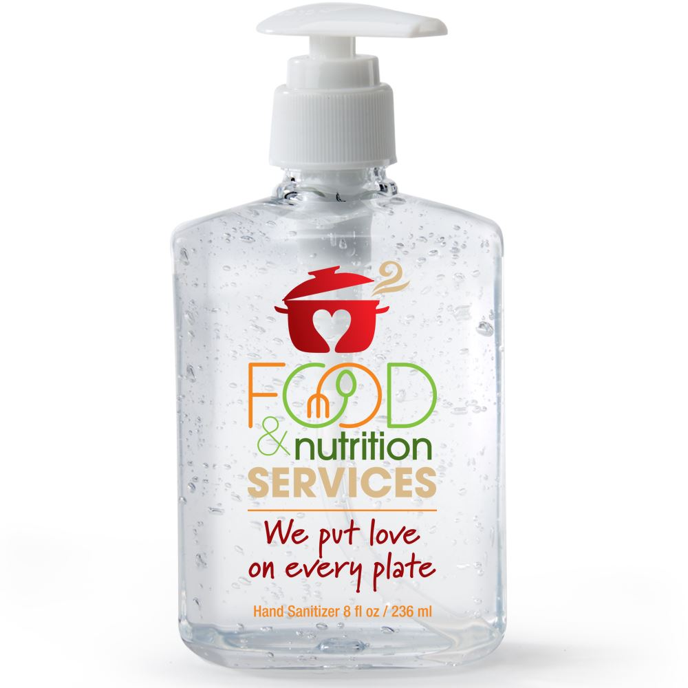 Food & Nutrition Services We Put Love On Every Plate 8-Oz. Sanitizer Gel Pump