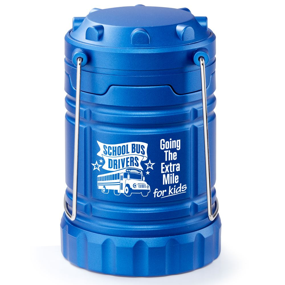 School Bus Drivers Going The Extra Mile For Kids Indoor/Outdoor Retractable LED Lantern with Magnetic Base