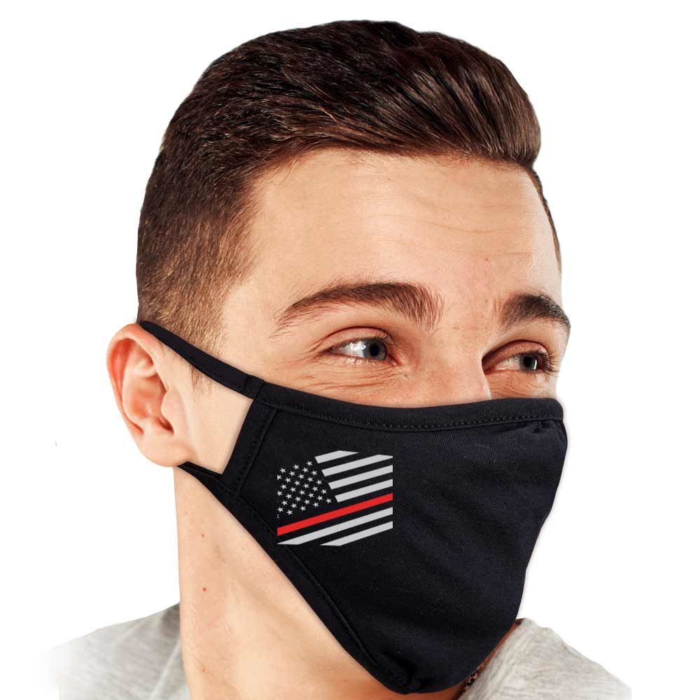 Thin Red Line 2-Ply 100% Cotton Mask