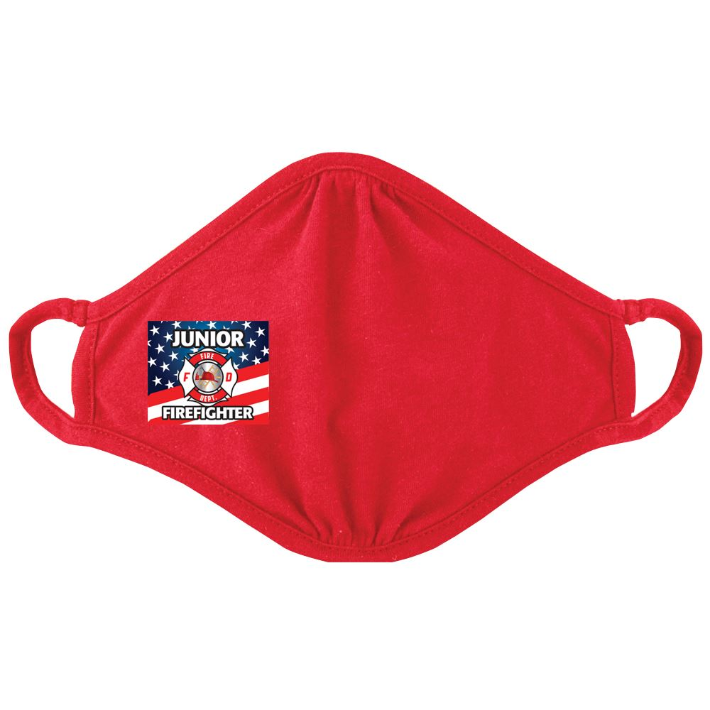 Junior Firefighter�2-Ply Blended Youth Face Mask