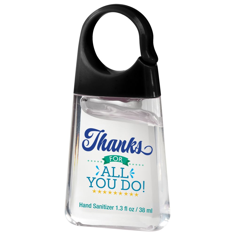 Hand Sanitizer With Carabiner Clip