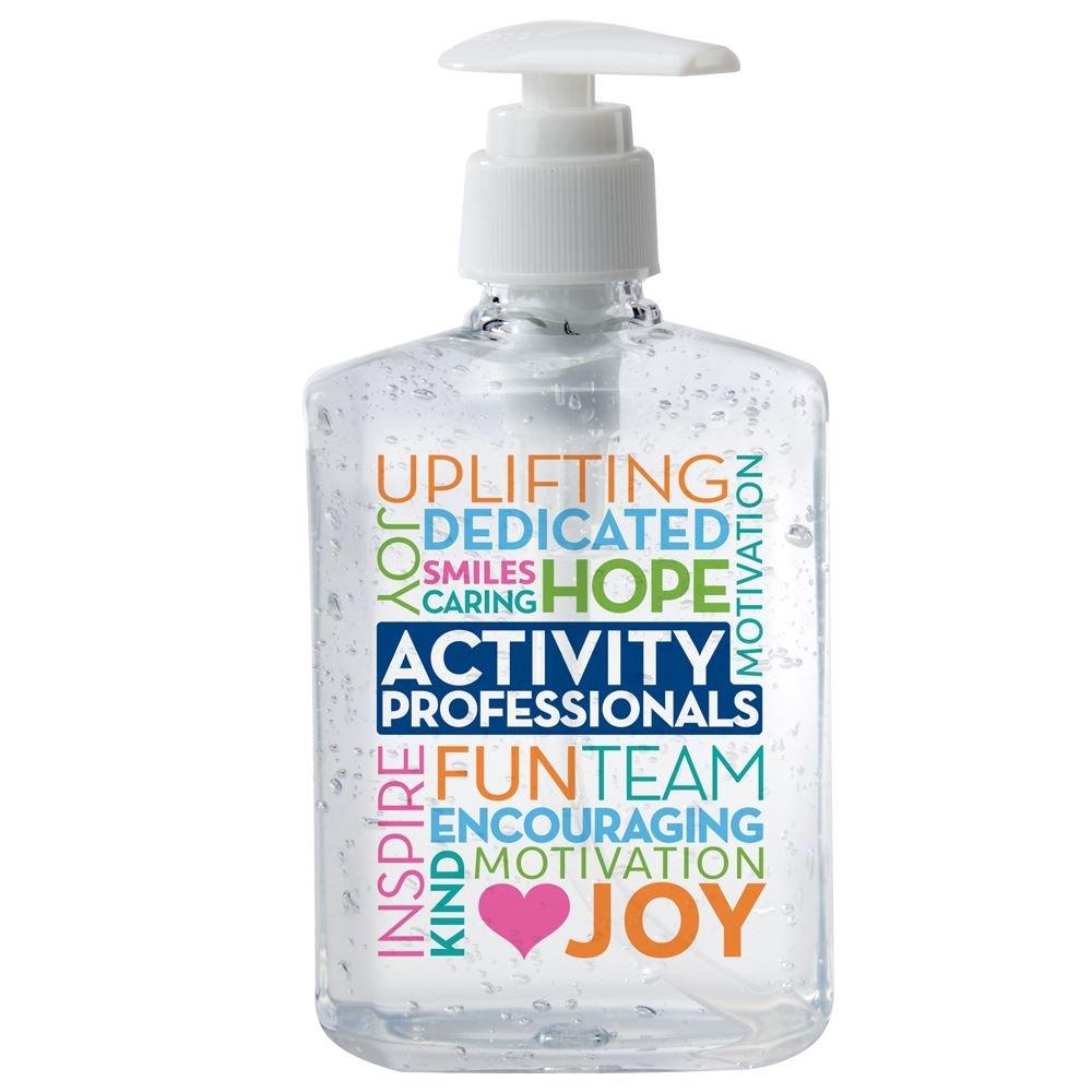 Activity Professionals Word Cloud 8-Oz. Hand Sanitizer Gel Pump
