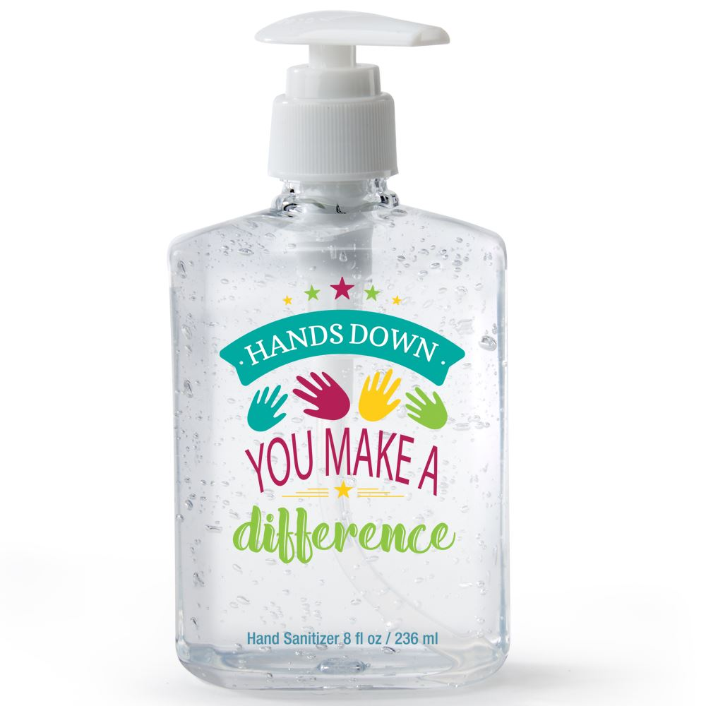Hands Down You Make A Difference 8-Oz. Sanitizer Gel Pump