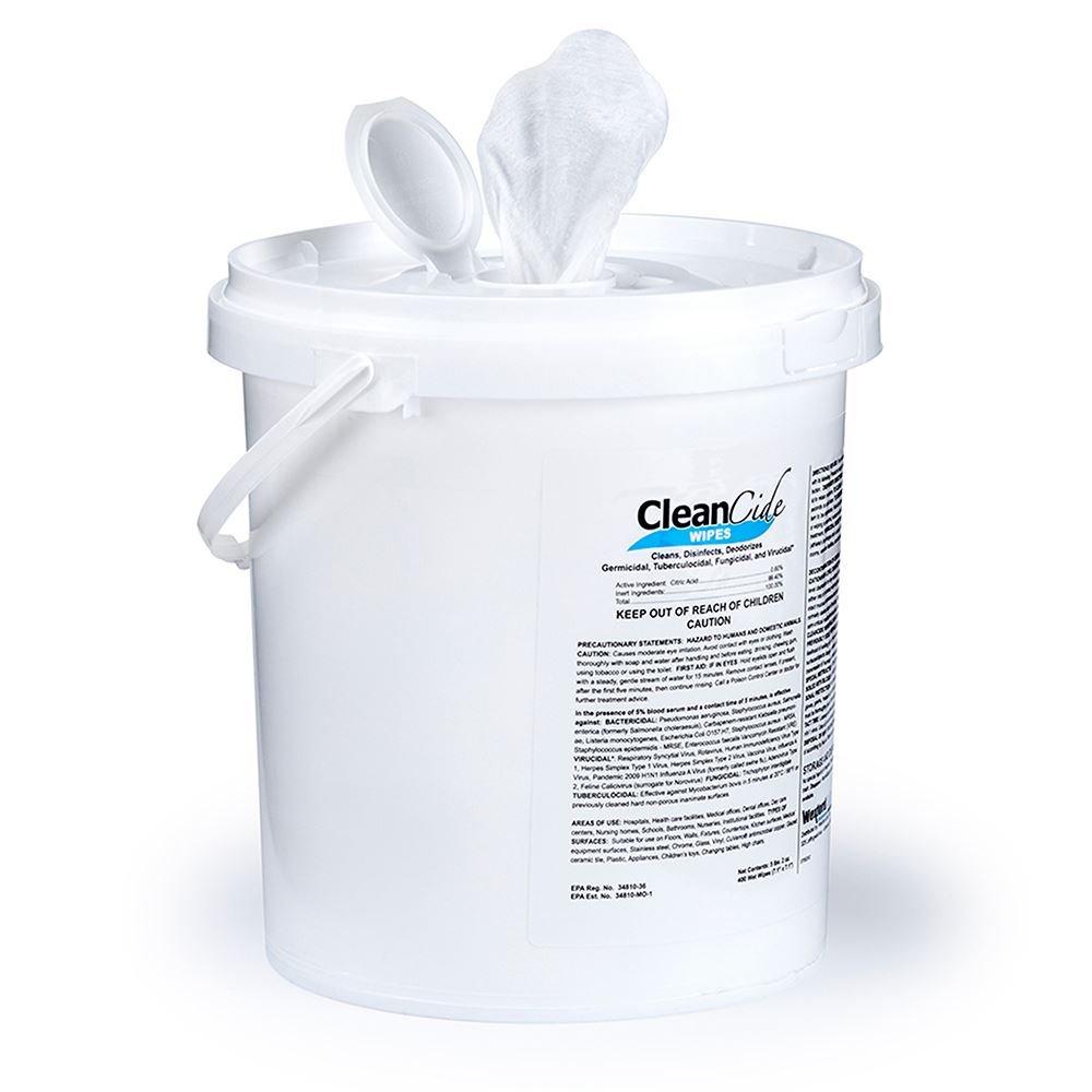 CleanCide® Germicidal Disinfectant Wipes - 400 Count - EPA REGISTERED� - Low Minimum Quantities