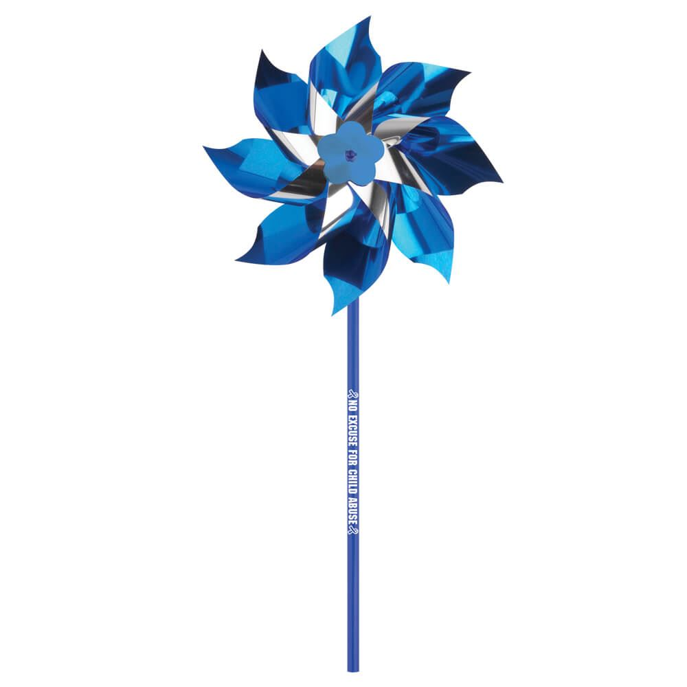 No Excuse For Child Abuse Mylar Pinwheel - Pack of 25