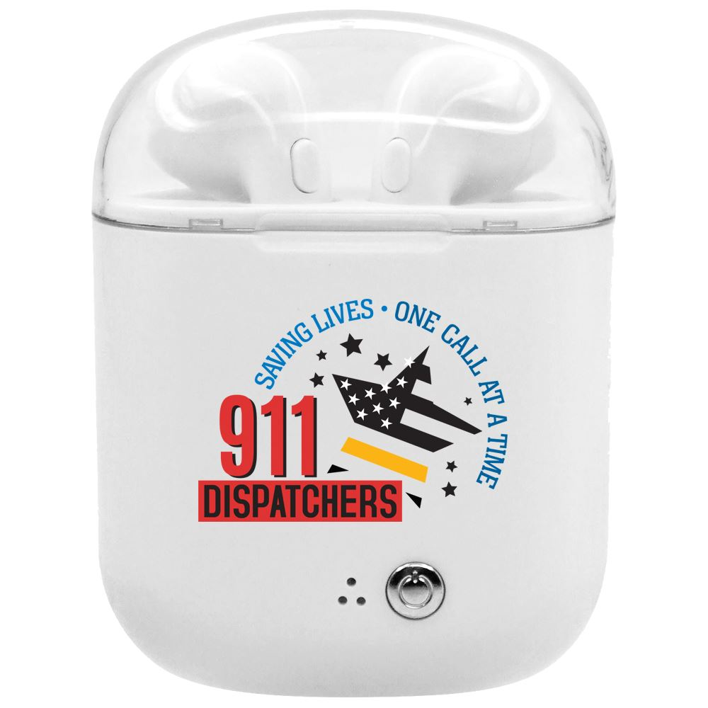 911 Dispatchers: The Calm In The Chaos Bluetooth ® Earbuds In Charging Case
