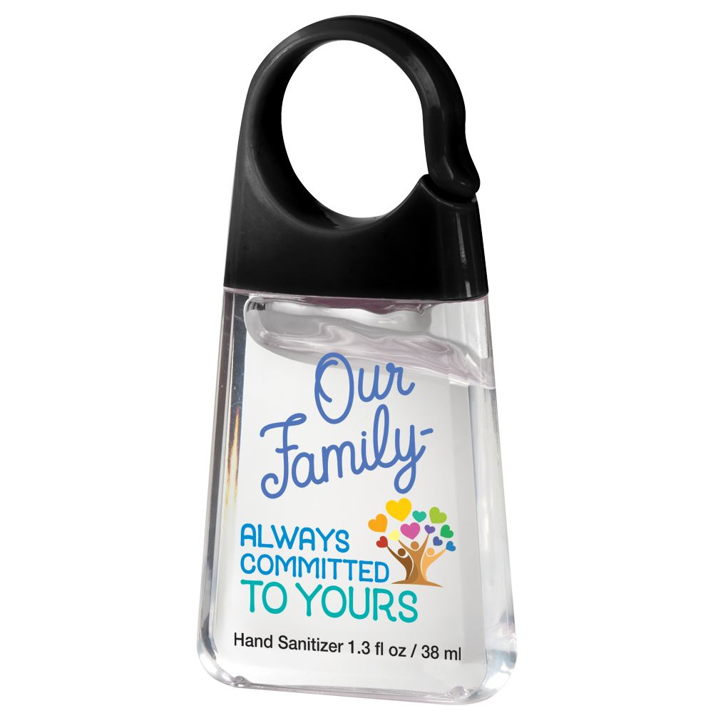 Our Family: Always Committed To Yours Hand Sanitizer with Carabiner Clip