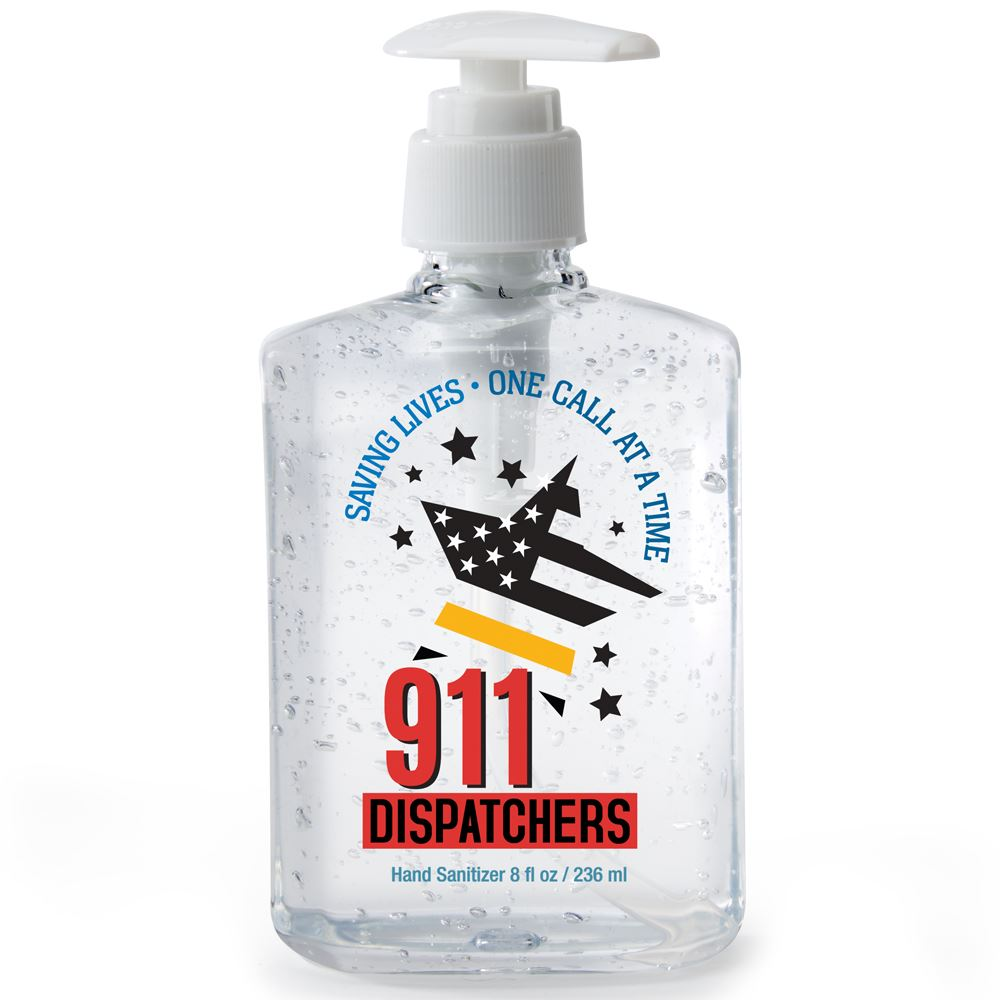 911 Dispatchers Saving Lives One Call At A Time 8-oz. Hand Sanitizer