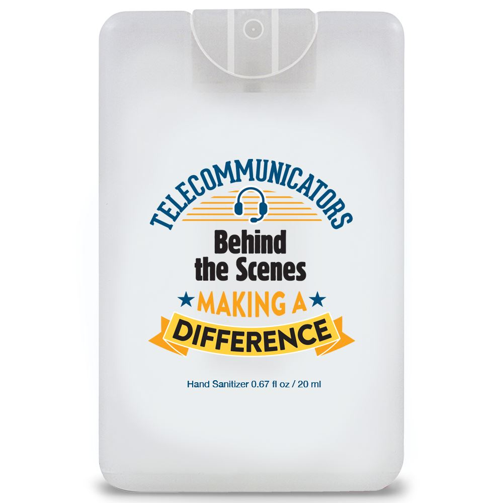 Telecommunicators: Behind the Scenes Making A Difference Credit Card-Style Antibacterial Hand Sanitizer Spray
