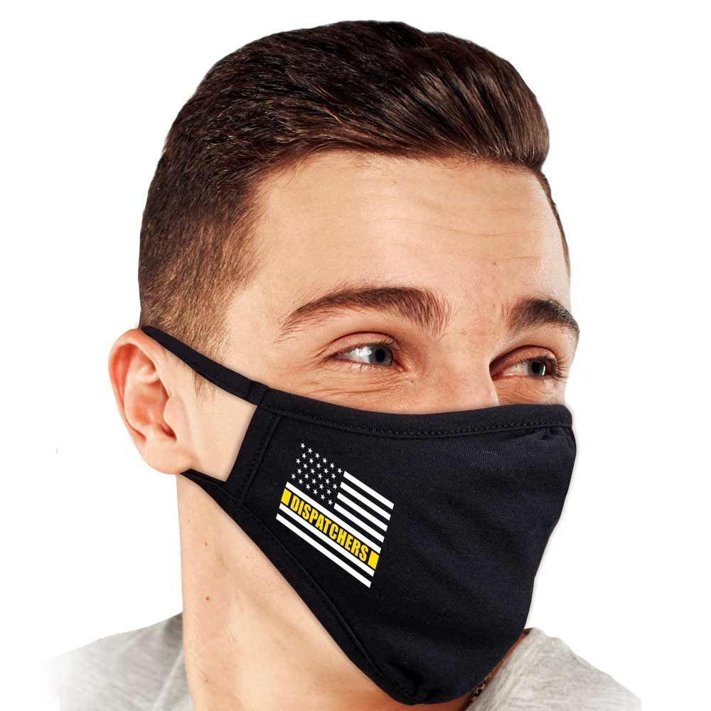 Dispatchers Flag 2-ply 100% Cotton Face Mask - Increments of 10
