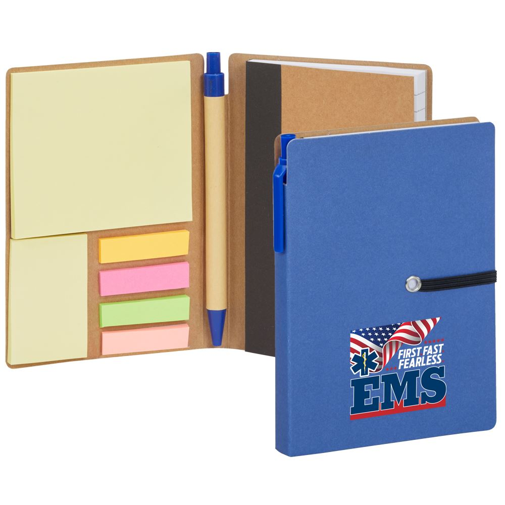 EMS: First. Fast. Fearless Jotter With Sticky Notes & Pen