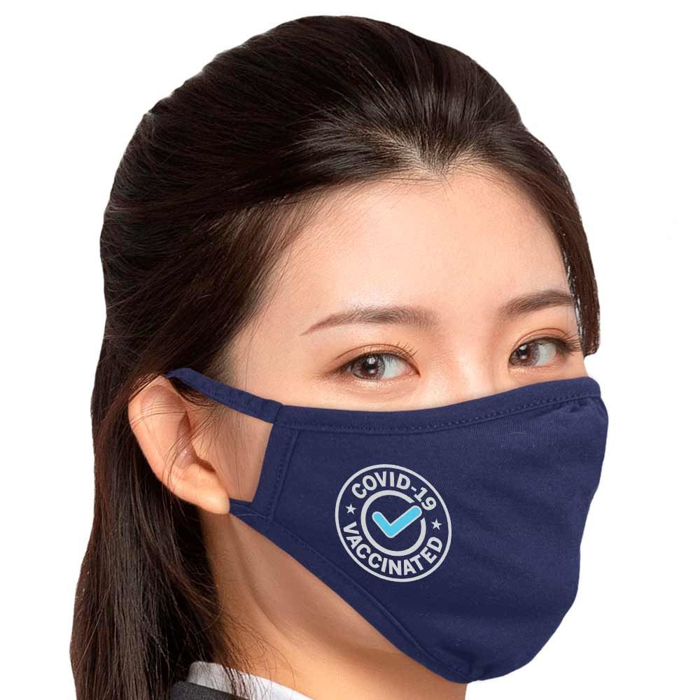 COVID-19 Vaccinated Eco-Friendly 2-Ply Blended Adult Face Mask