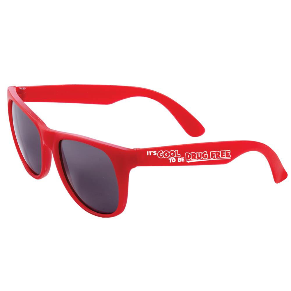 It's Cool To Be Drug Free Sunglasses - Pack of 10