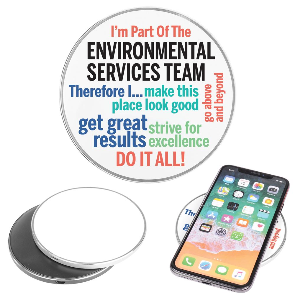 I'm Part of The Environmental Services Team Therefore I... Qi 10W Charging Pad