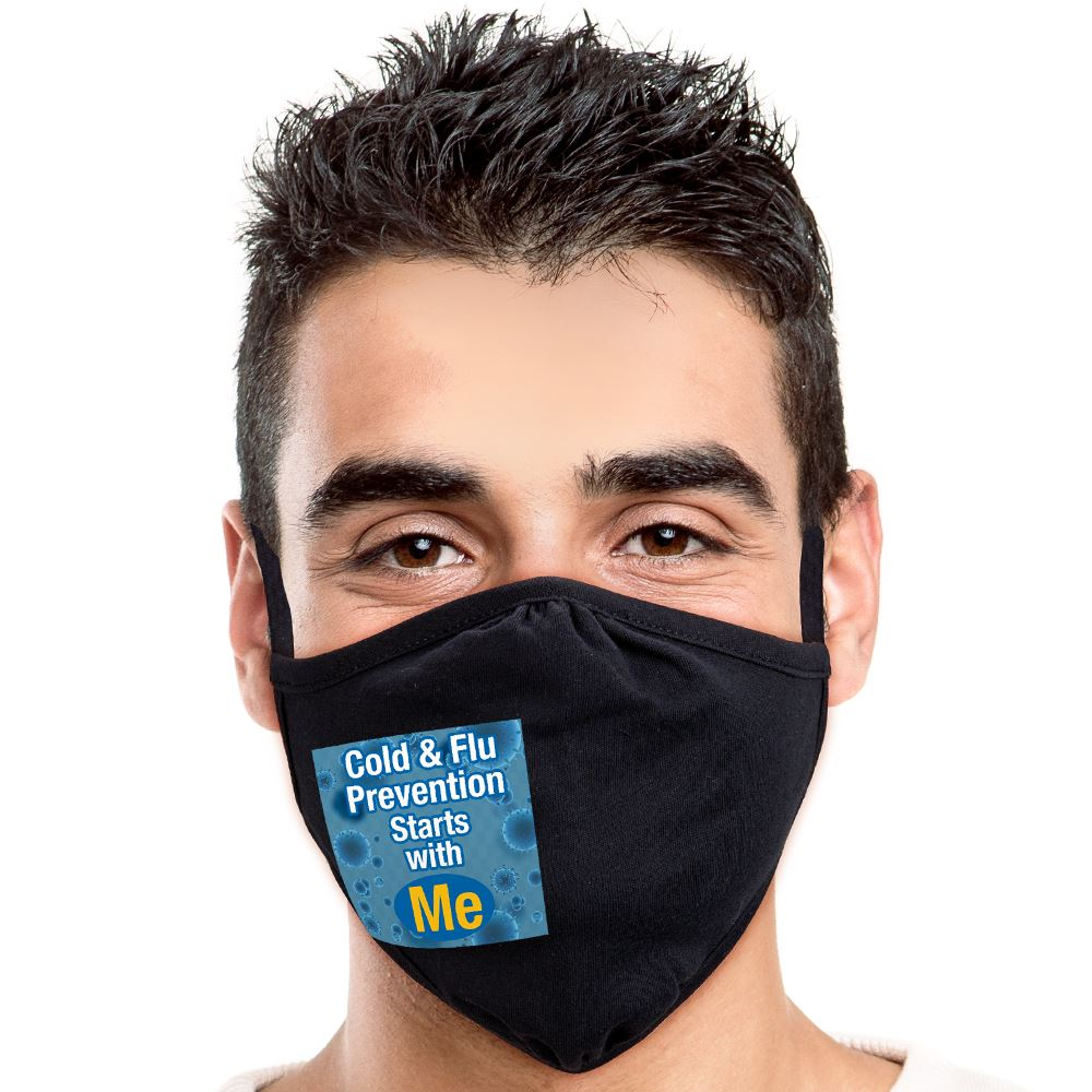 Cold & Flu Prevention Starts With Me 2-ply 100% Cotton Face Mask
