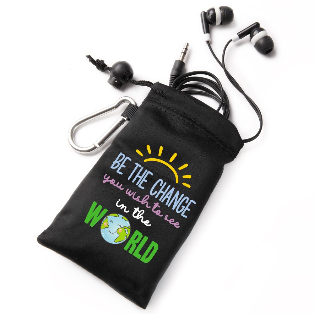 Be The Change You Wish To See In The World Earbuds In Pouch