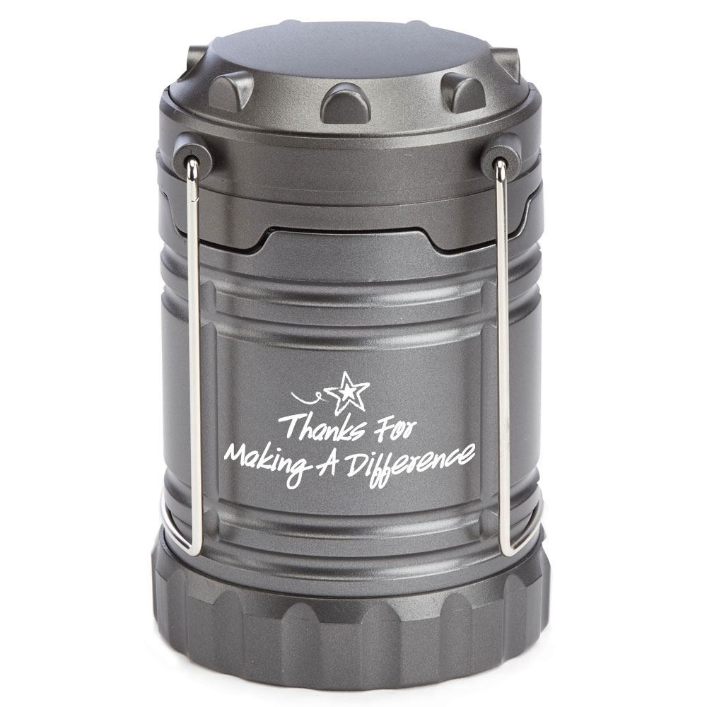 Thanks For Making A Difference Indoor/Outdoor Retractable LED Lantern