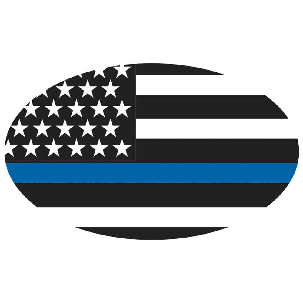 The Thin Blue Line Vinyl Decal