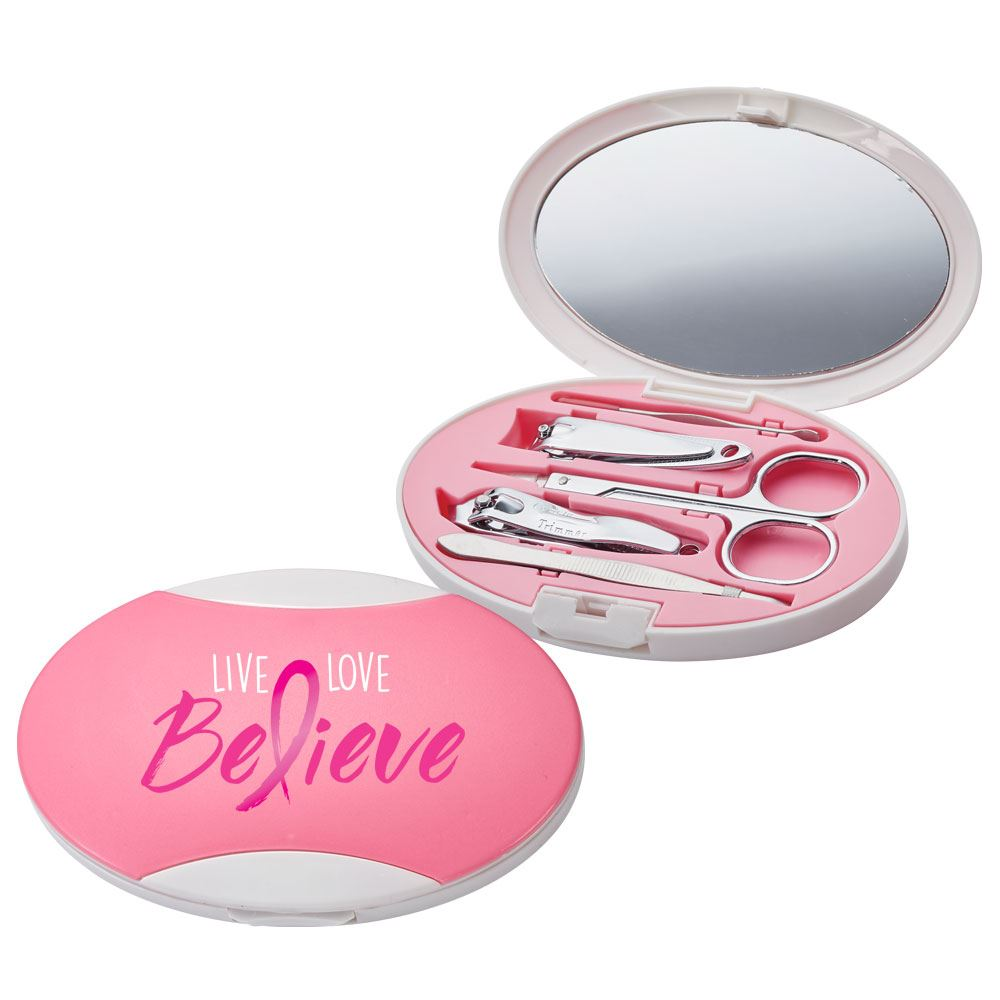 Live, Love, Believe Allure Manicure Set Full Color Design