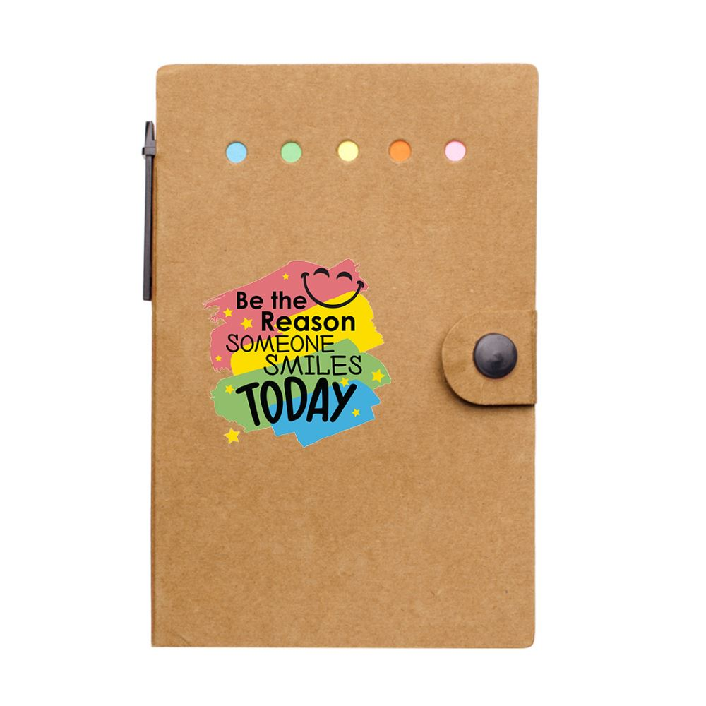 Be The Reason Someone Smiles Today Jotter With Sticky Notes & Pen Gift Set