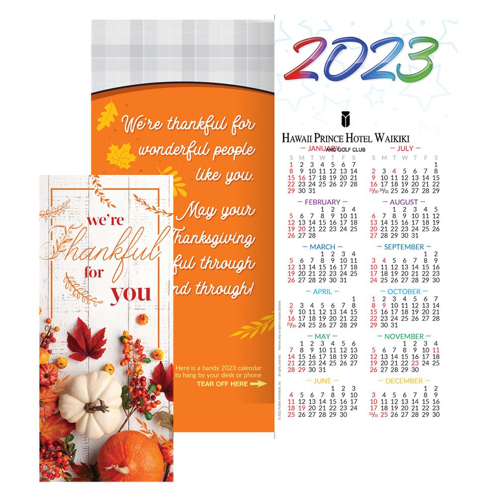 thanksgiving 2019 holiday greeting card calendar