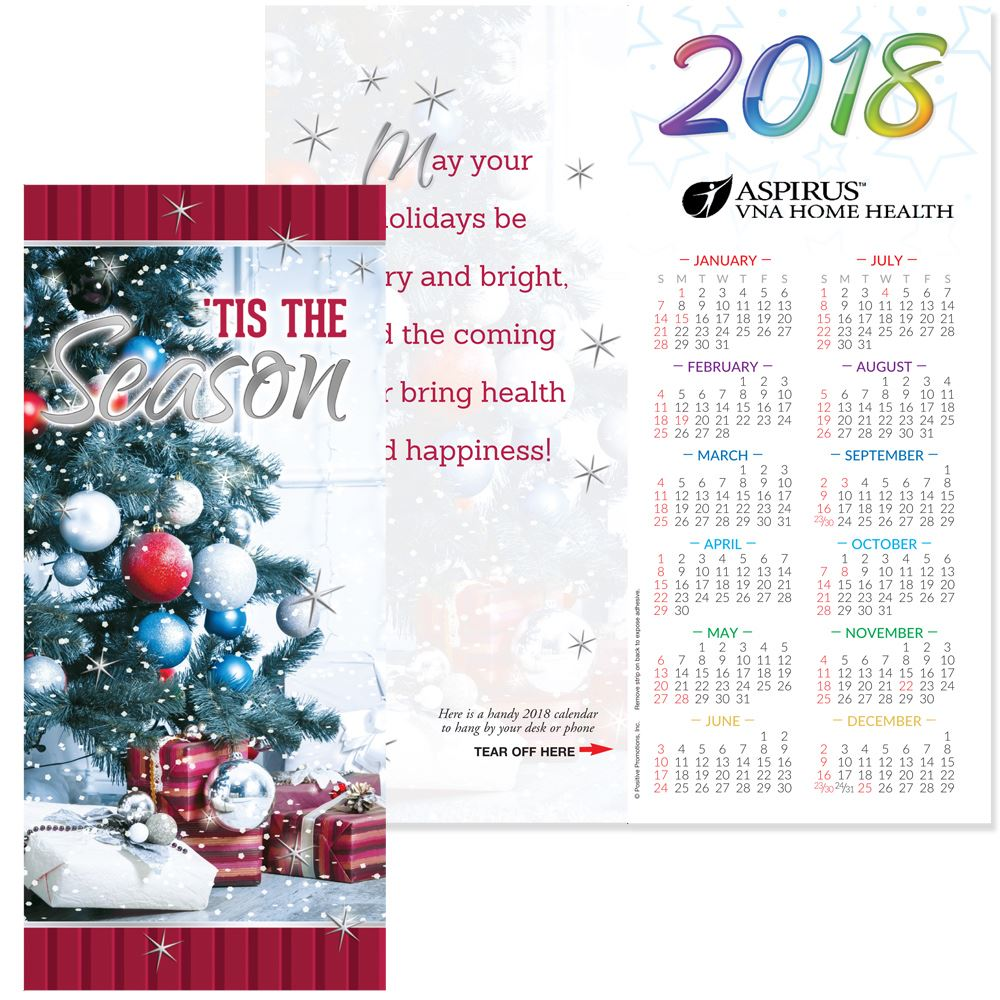 Tis The Season 2018 Silver Foil-Stamped Holiday Greeting Card ...