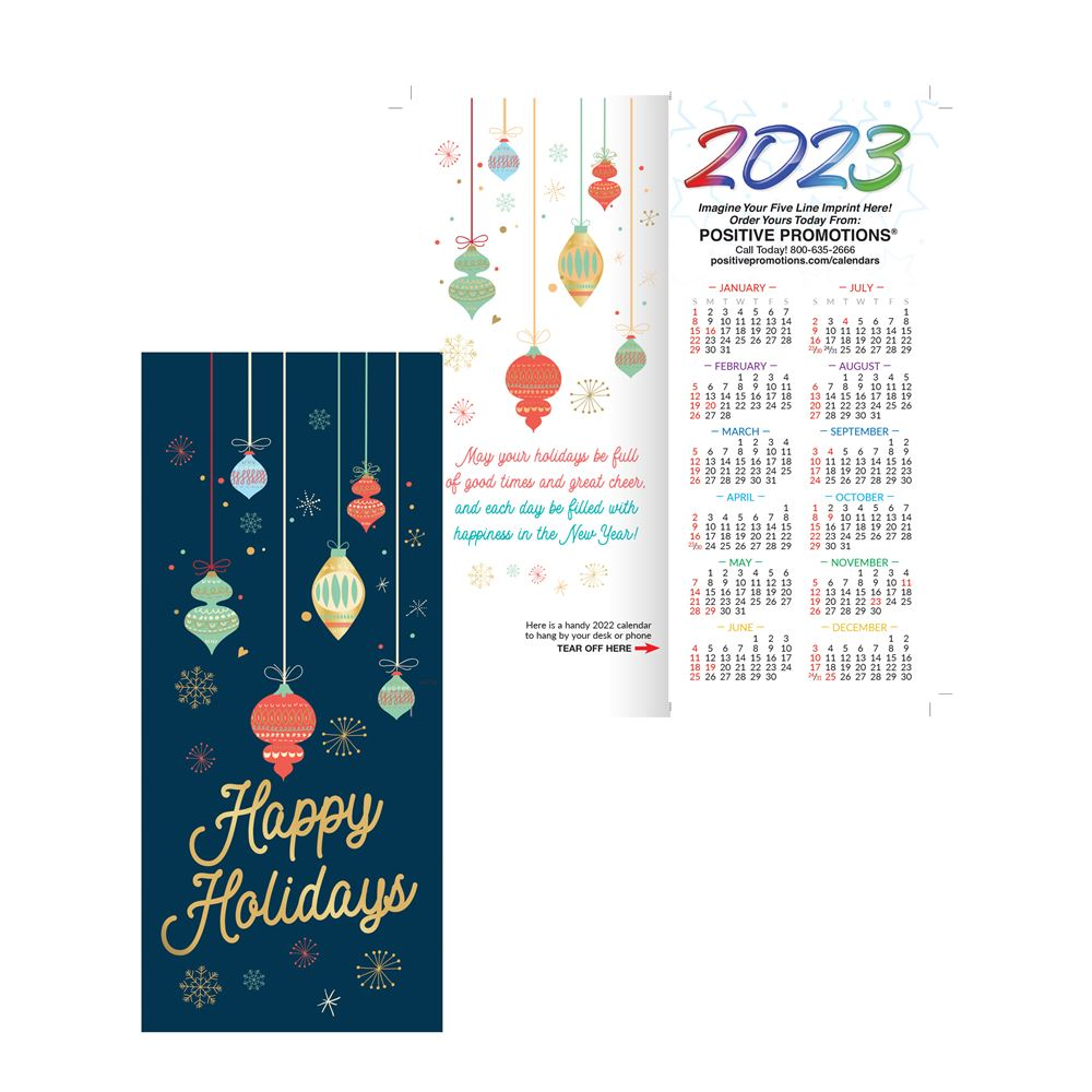 Happy Holidays 2019 Silver Foil Stamped Holiday Greeting Card