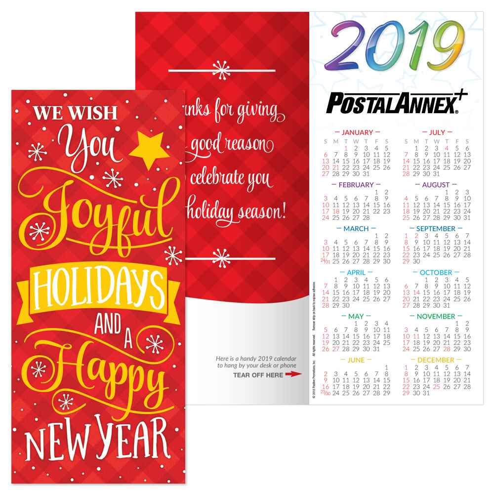 we wish you joyful holidays and a happy new year 2019 holiday greeting card calendar
