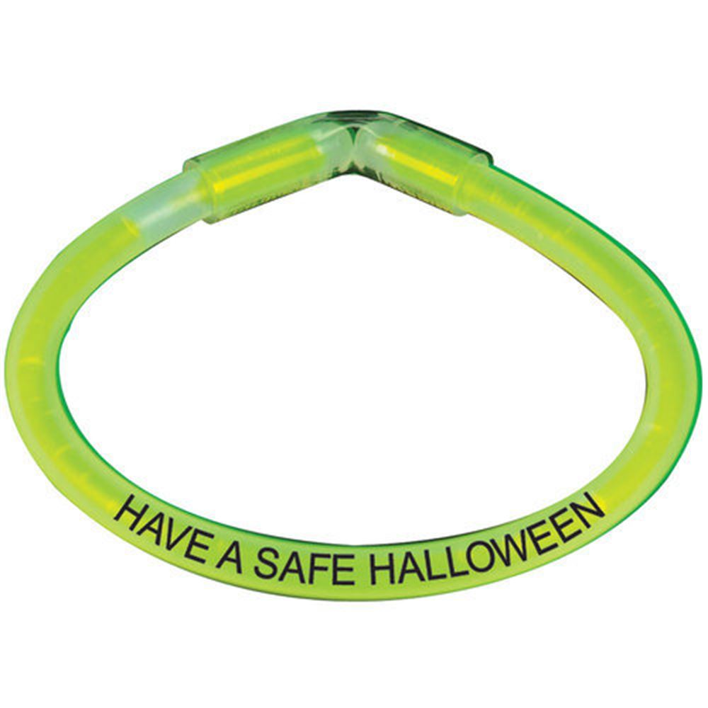 Have A Safe Halloween Safety Glow Bracelet - 50 Per Pack