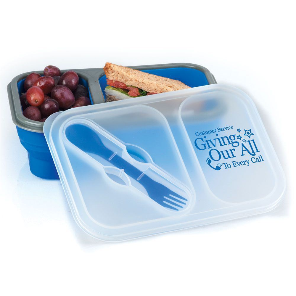 Customer Service Giving Our All To Every Call Collapsible Two-Section Lunch Container