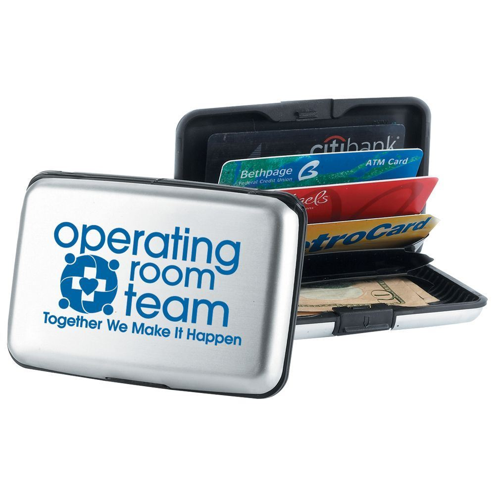 Operating Room Team: Together We Make It Happen Identity Guard Aluminum Wallet