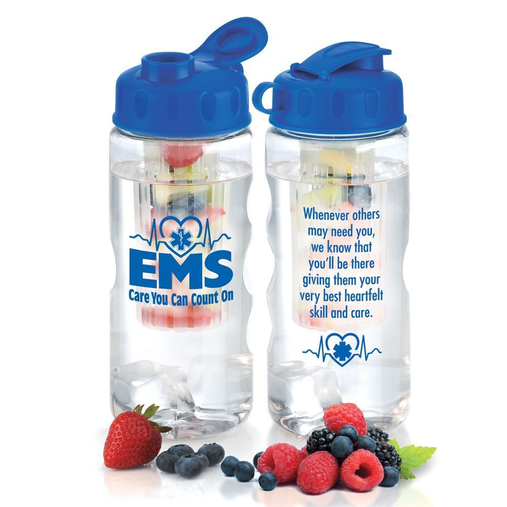 EMS: Care You Can Count On Fruit Infuser Water Bottle 22-oz.