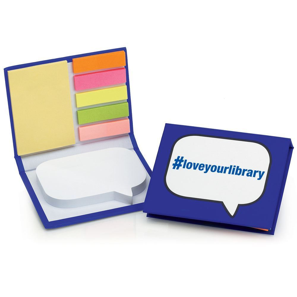 #loveyourlibrary Burst® Sticky Note Jotter