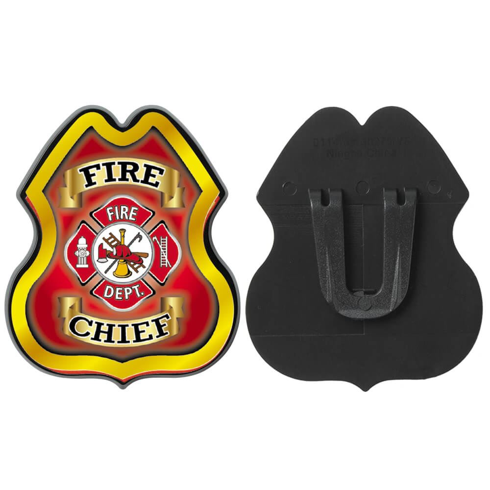 Fire Chief Plastic Junior Firefighter Badge