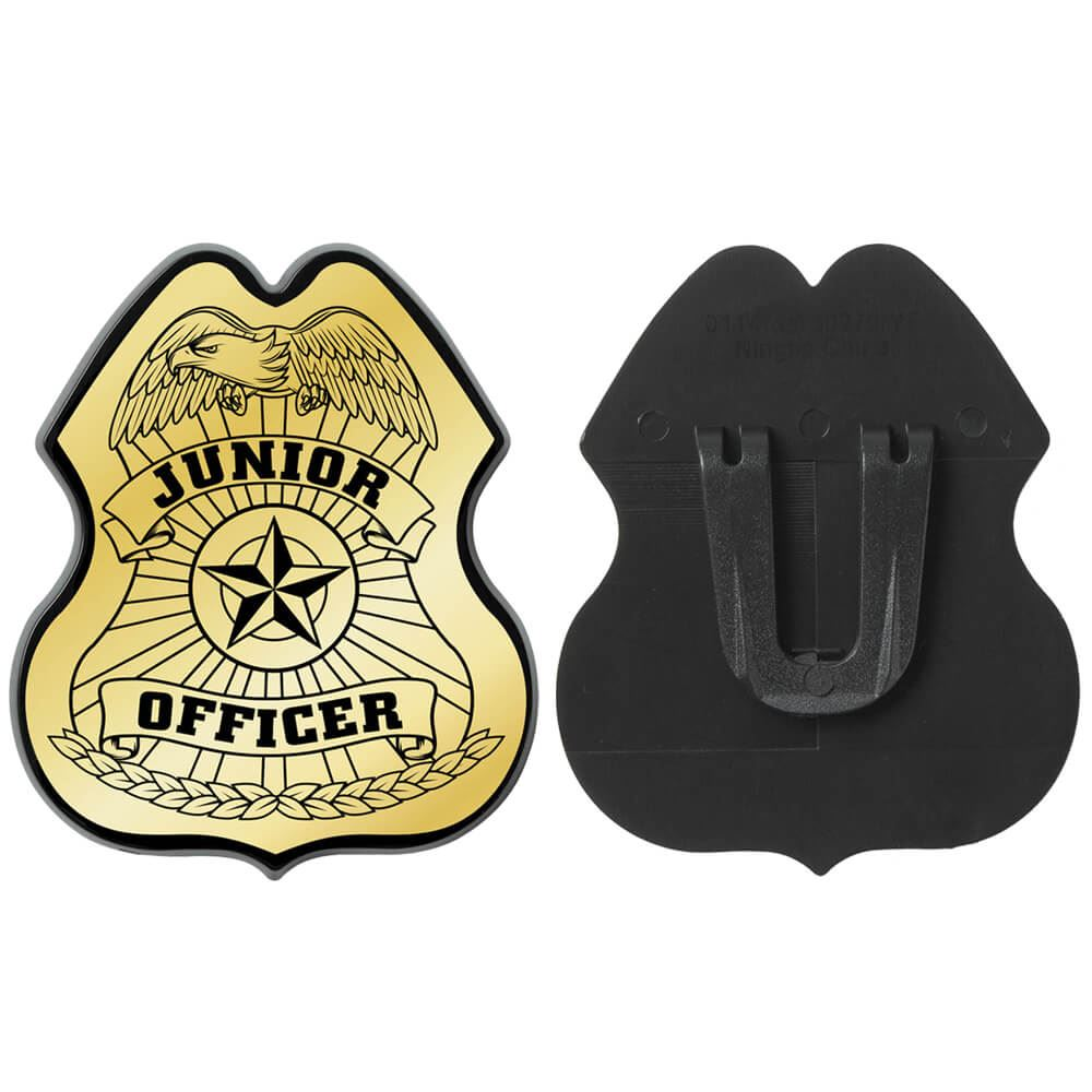 Junior Officer Gold Plastic Badge