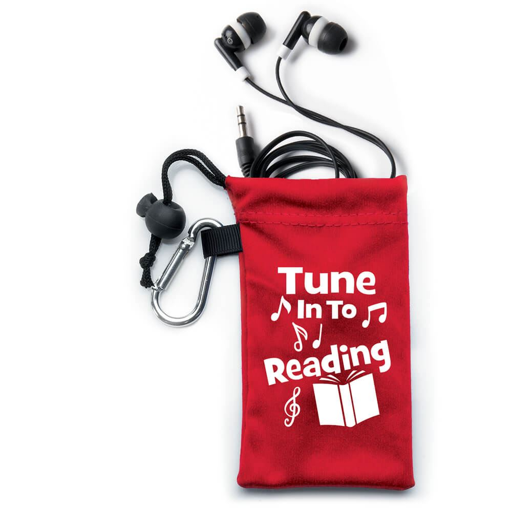 Tune In To Reading Earbuds In Pouch