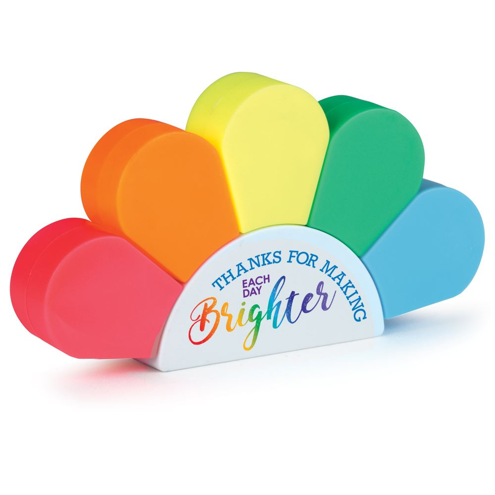 Thanks For Making Each Day Brighter Sunrise 5-Color Highlighter