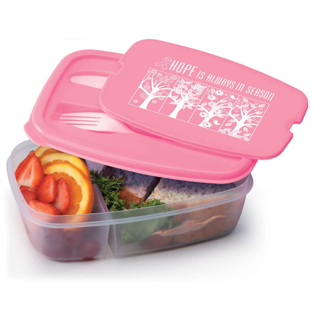 Hope Is Always In Season 2-Section Food Container With Utensils