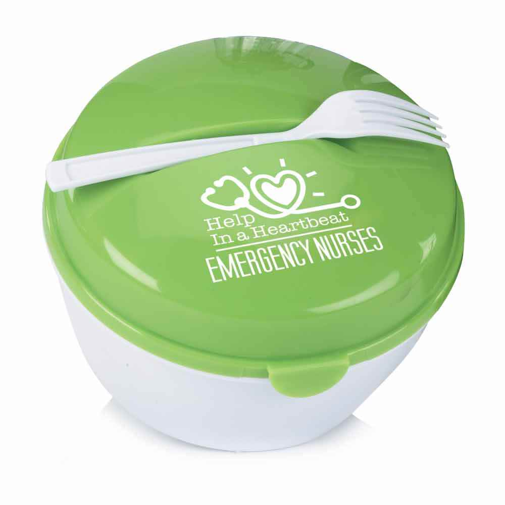 Emergency Nurses: Help In A Heartbeat Round Food Container With Compartments