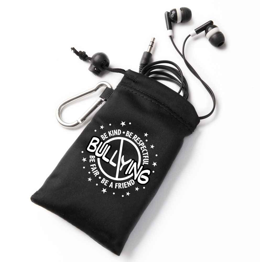 No Bullying Earbuds In Pouch
