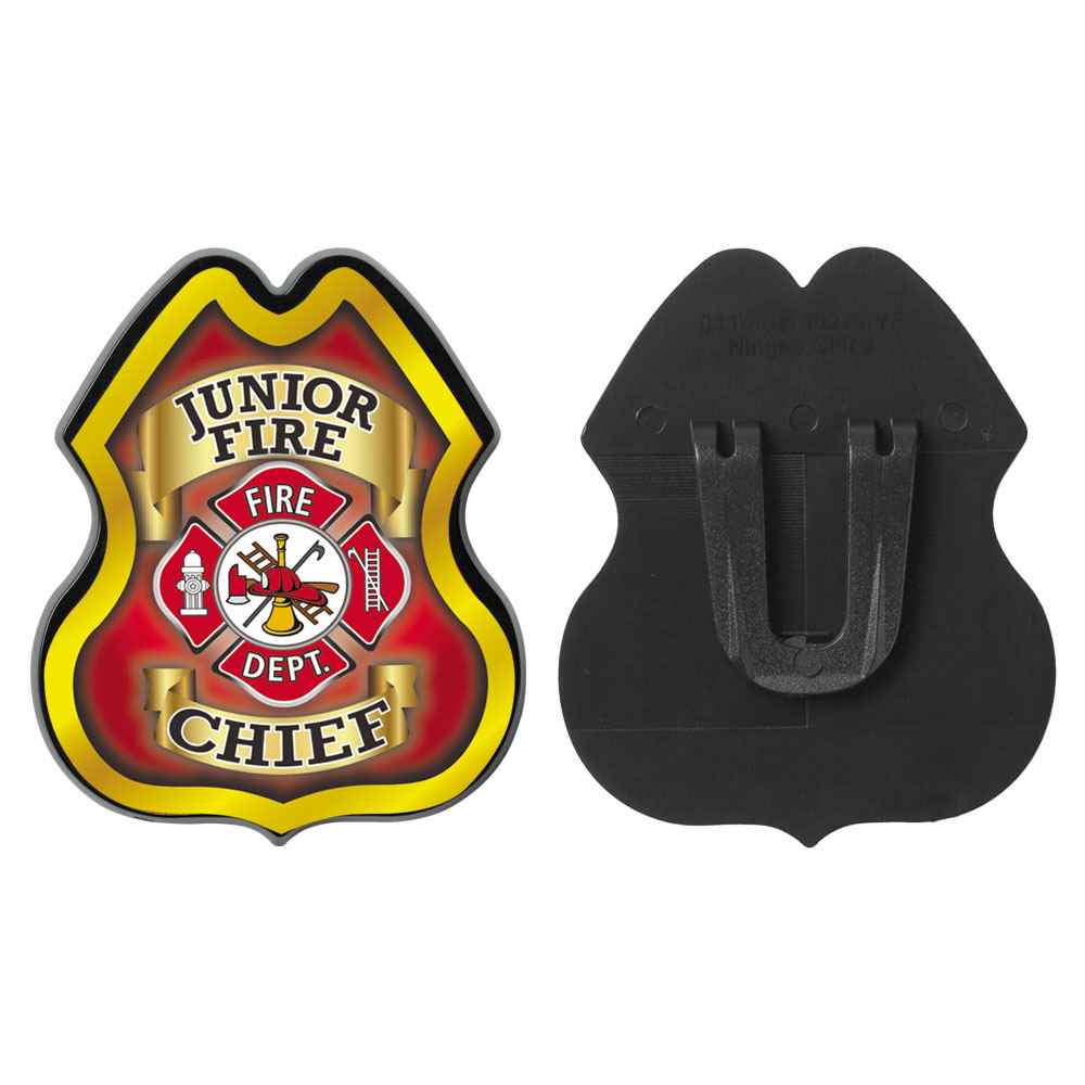 Junior Fire Chief Clip-On Junior Firefighter Badge