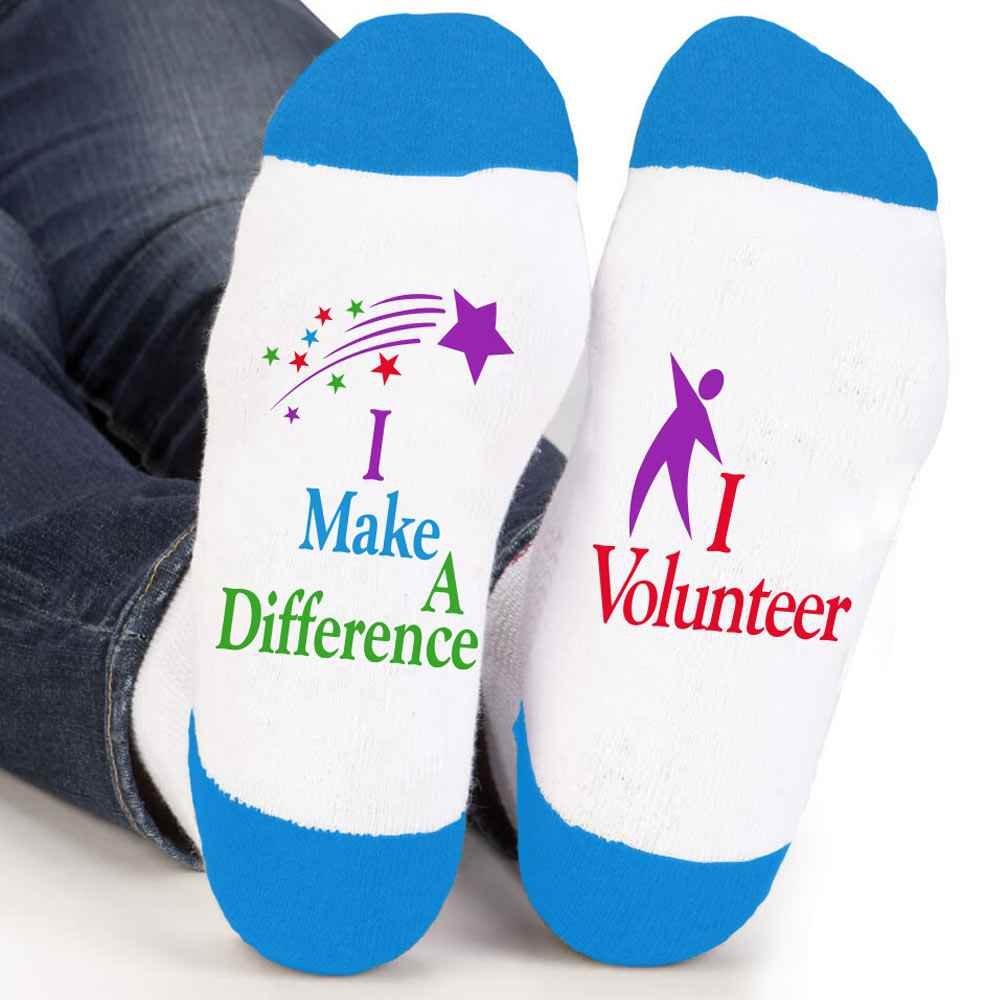 I Make A Difference I Volunteer Ankle Socks