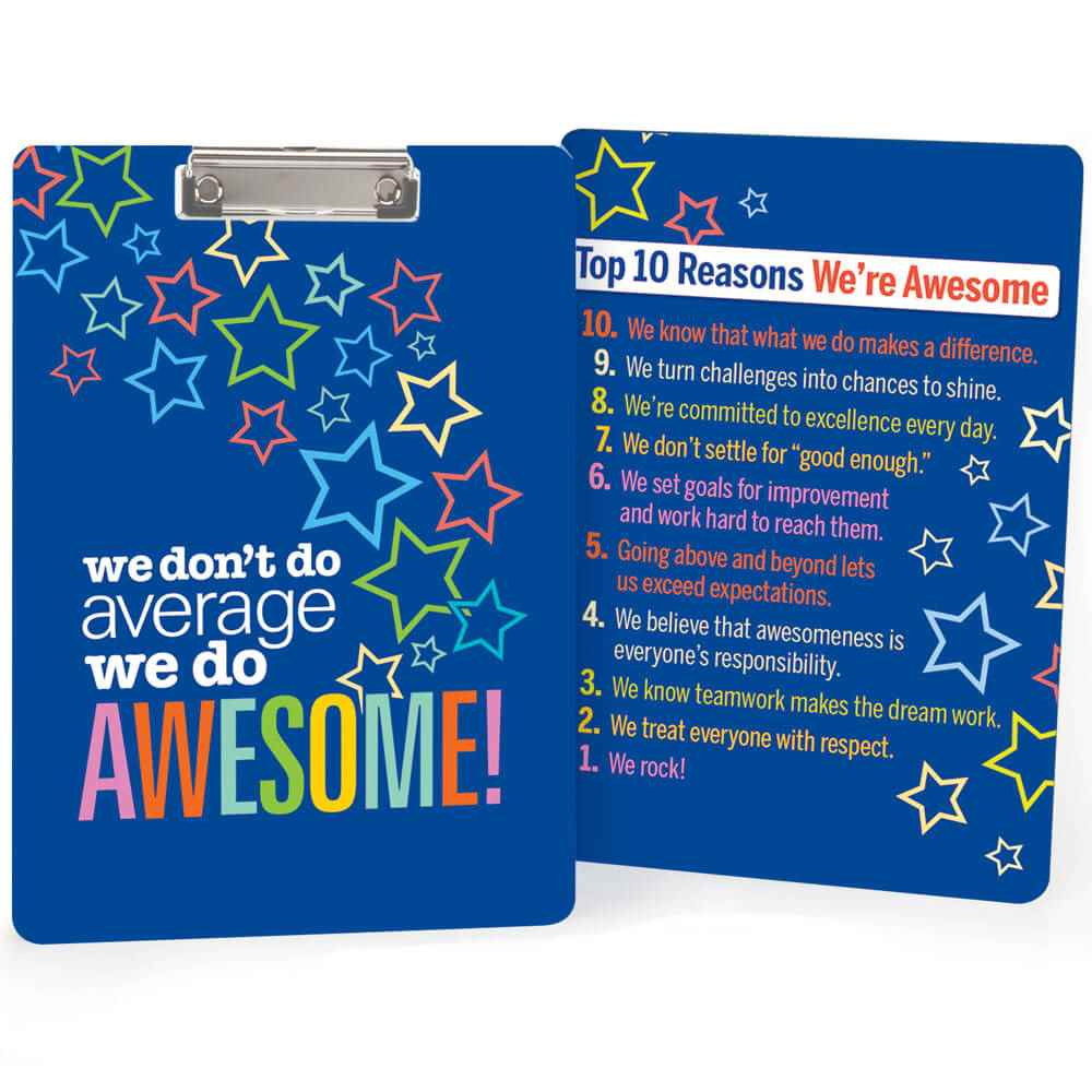 We Don't Do Average, We Do Awesome! Clipboard