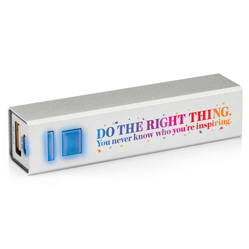 Do The Right Thing. You Never Know Who You're Inspiring UL® Metal Power Bank