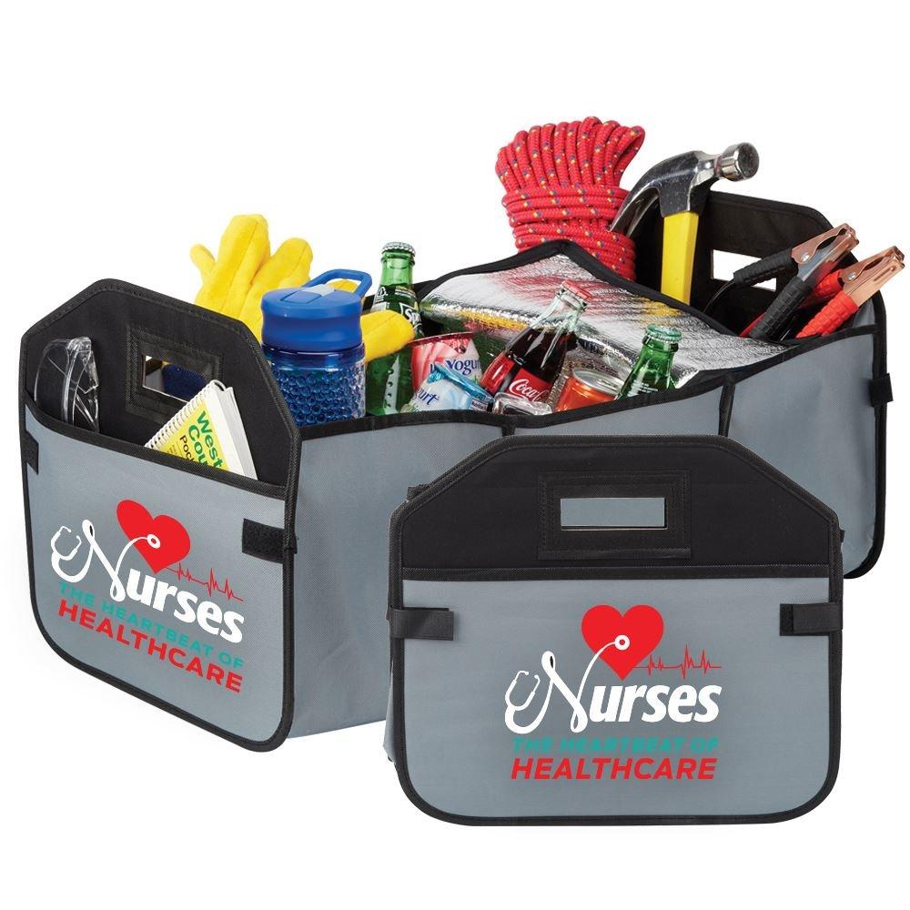 Nurses: The Heartbeat Of Healthcare 2-In-1 Trunk Organizer & Cooler